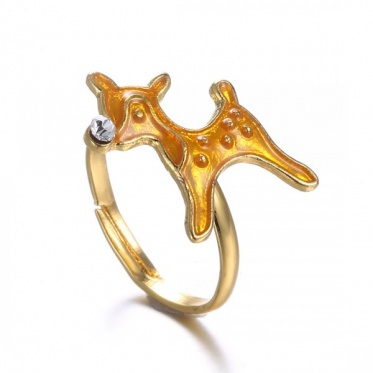 Extraodinarity Christmas Series Gold Plated Women Rings Accessories Wholesale