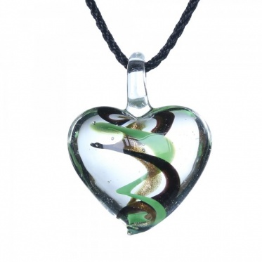 Hot Fashion Woman Man Jewelry Heart Colorful Wave Coloured Glaze Pendant Necklace