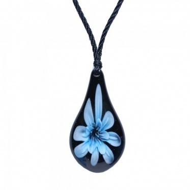 Hot Fashion Jewelry Woman Man Waterdrop Flower Colored Glaze Pendant Neckalce
