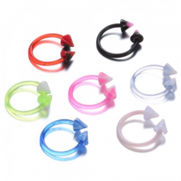20pcs Nose Ring Eyebrow Spike Screw Tragus Helix Cartilage Studs Plastic Body Piercing Jewelry