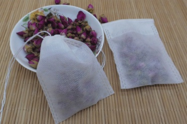 100 pcs White Empty Teabags String Loose Paper Herb Tea Bags Heat Seal Filter