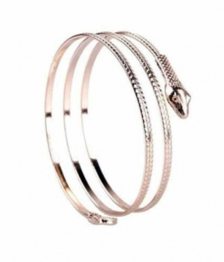 Stylish Punk Spiral Upper Arm Cuff Armlet Snake Armband Bangle Bracelet Anklet