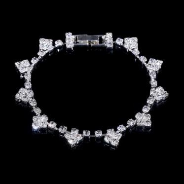 优雅婚礼饰品水钻手链 简约时尚韩版风 婚礼订婚手链