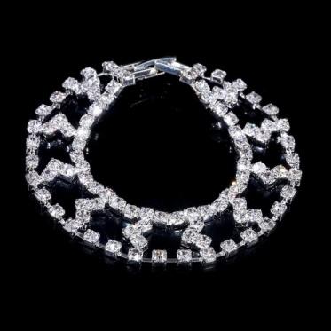 简约百搭婚礼水钻手链 韩版时尚女 新娘饰品结婚礼物