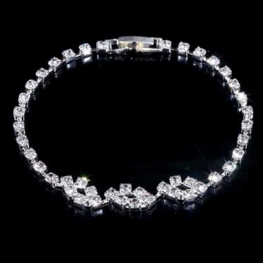 韩版时尚简约婚礼晚会新娘首饰 婚礼饰品水钻手链珠宝