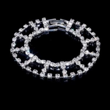 简约时尚韩版风 独特婚礼饰品水钻手链 女性首饰珠宝