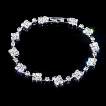 韩版时尚百搭水晶手链 婚礼饰品手链珠宝 晚宴婚礼手镯饰品
