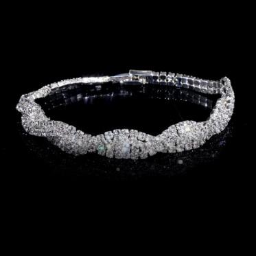 韩版时尚百搭水钻手链 婚礼饰品手链珠宝 晚宴婚礼手镯饰品