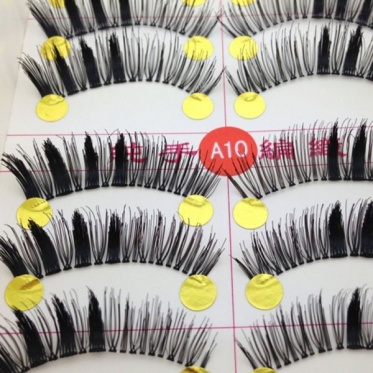10 Pairs Pure Handmade Manual False Eyelashes Thick Eye End Makeup