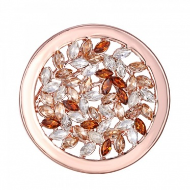 Rose Gold Open Crystal 33mm Coin FOR Coin Keepers/Pendant 6 Styles Choice