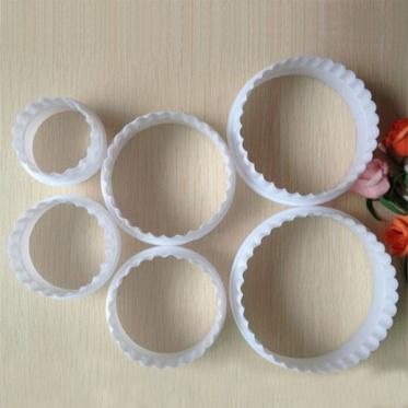 6pcs DIY Round Circle Cookie Fondant Cake Paste Mold Baking Cutter Tool Accs New