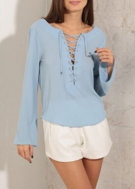 Sexy Women's Clothing Shirt Summer Backless Chest Bow Shirt Blouse Woman S-XL