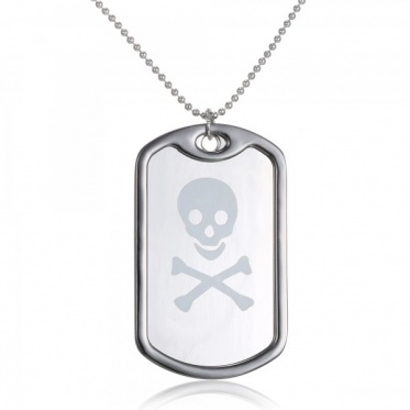New Fashion Woman Man Jewelry Gun Black Plated Lettering Skull Heads Pendant Necklace