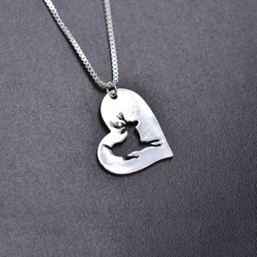 Hot Lucky Deer White Gold Plated Short Choker Hollow Pendant Necklace Woman Man