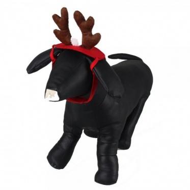 Pet Supplies Coffee Antlers Christmas Pet Dog Hat Meng Pet Cat Jewelry Short Plush