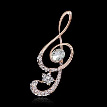 Fashion Woman Jewelry Rhinestone Glass/Pearl Wings Note Dancing Girl Owl Brooch