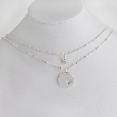 2pcs Fashion Woman Man Jewelry Family Series Love Heart Mother and Daughter Necklace