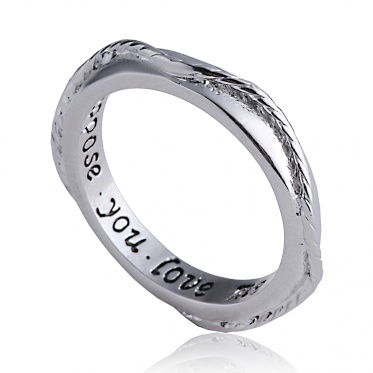 Fashion Upmarket Round Shape Gold And Silver Plated Ring Lettering Hot Selling