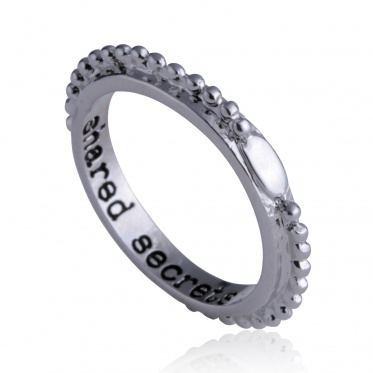 Wholease Round Silver And Gold Plated Ball Bead Lettering Unisex Rings Jewelry
