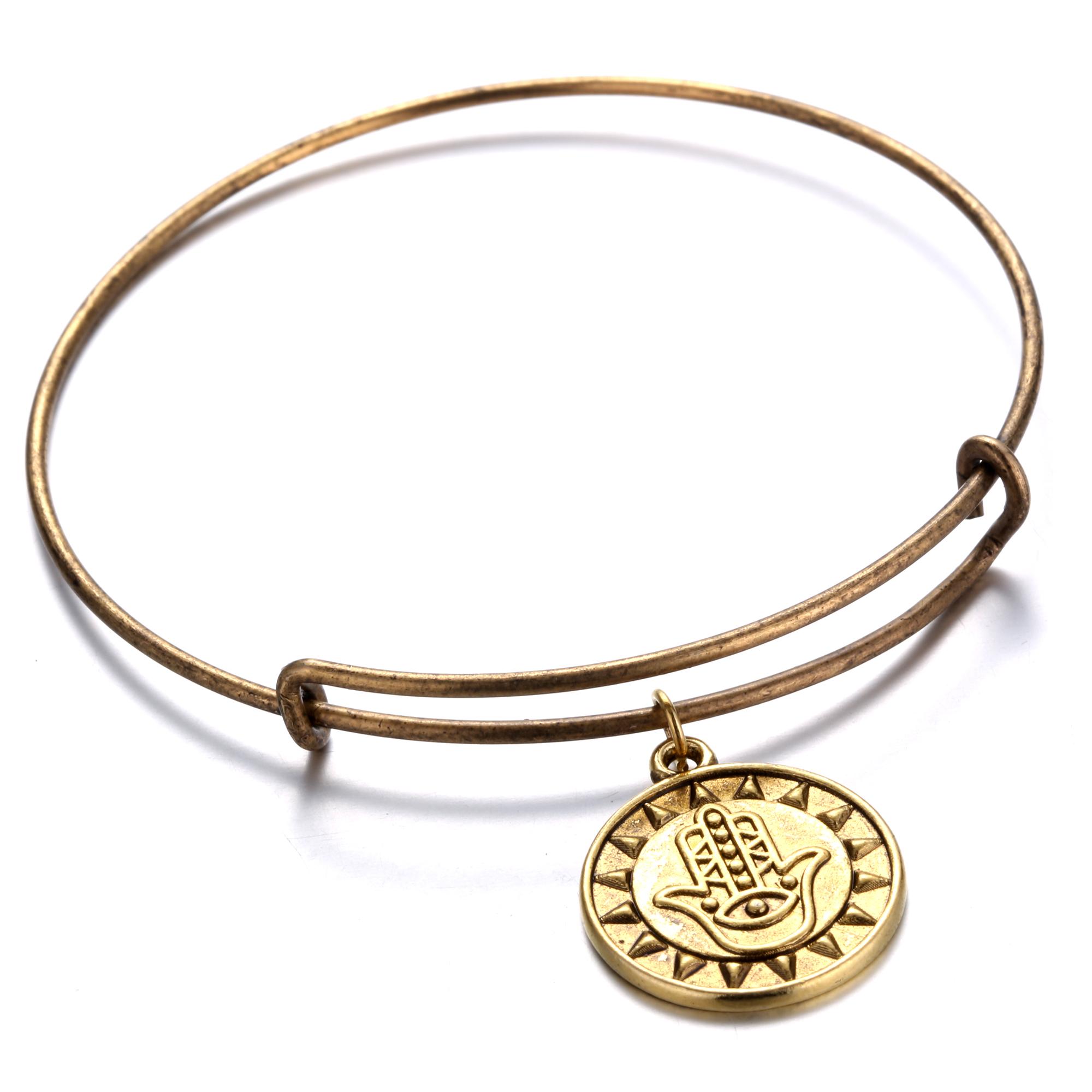New Jewelry Charm Bangle Fashion Silver & Gold Plated Bracelet Women Wrist Gift