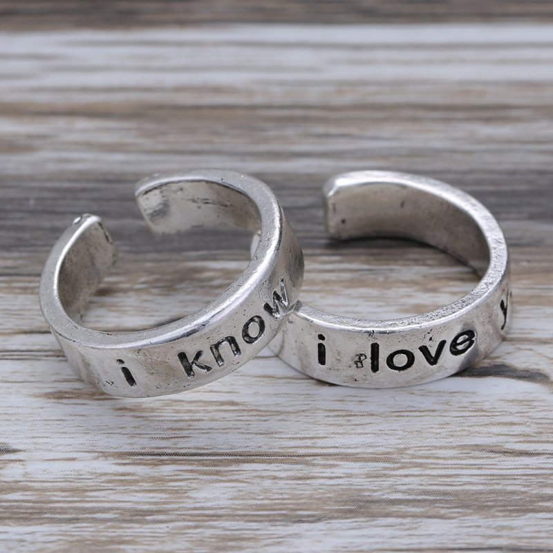 simple engraved 2pcs fashion quot i i you quot lover