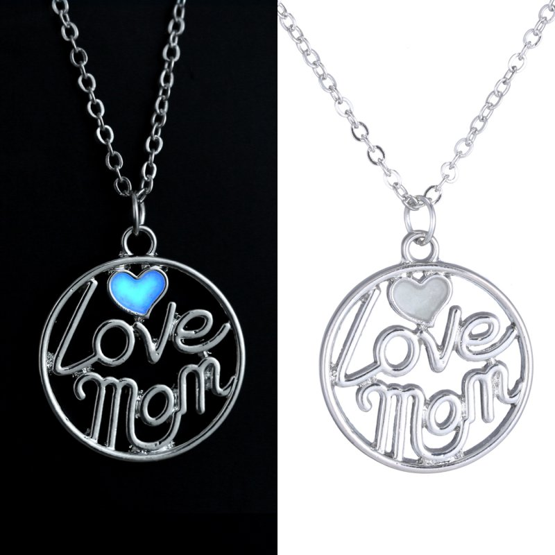 mom luminous unique engraved pendant glow in the dark. Black Bedroom Furniture Sets. Home Design Ideas