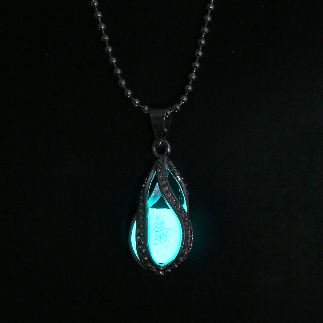 steampunk pretty magic round fairy locket necklace glow in the dark pendant gift ebay. Black Bedroom Furniture Sets. Home Design Ideas