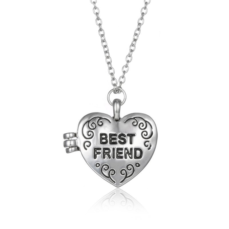 "New Arrival! 1/2/3P Set ""Best Friends""Silver Necklace Pendant BF Friendship Gift"