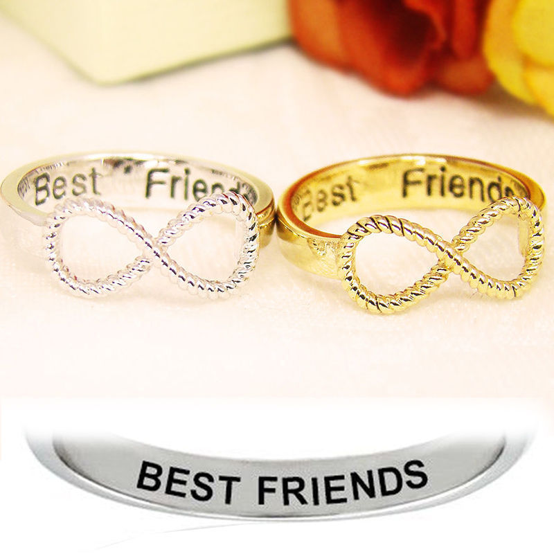 Купить Letter Best Friends Engraved Friendship Infinity Ring Gold/Silver Women Jewelry с eBay с доставкой в Украину - Под Дивано