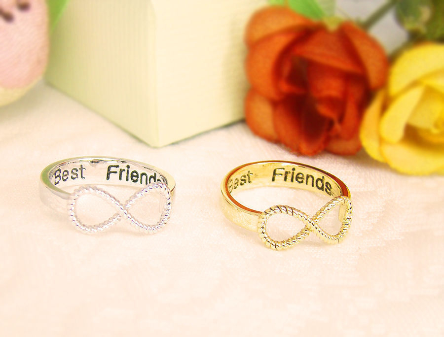 Best Friend Engraved Infinity Rings - Bing images