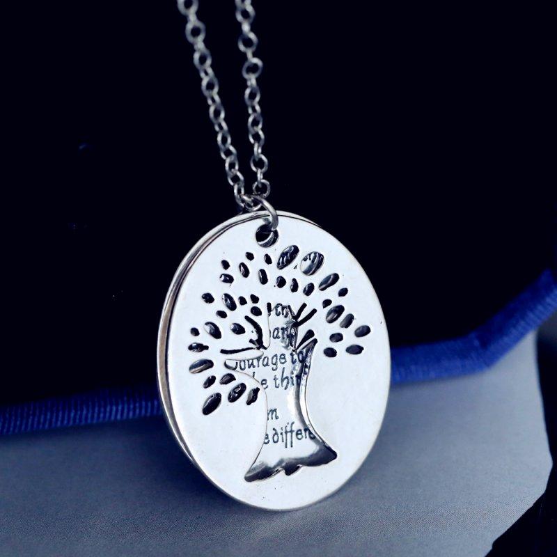 Tree Pendant Two Piece Serenity Prayer Necklace Religious ...