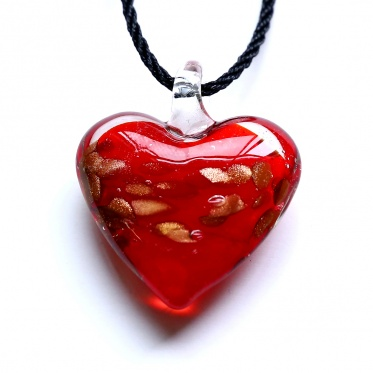 New Fashion Charming Jewelry Heart Flower Coloured Glaze Pendant Necklace