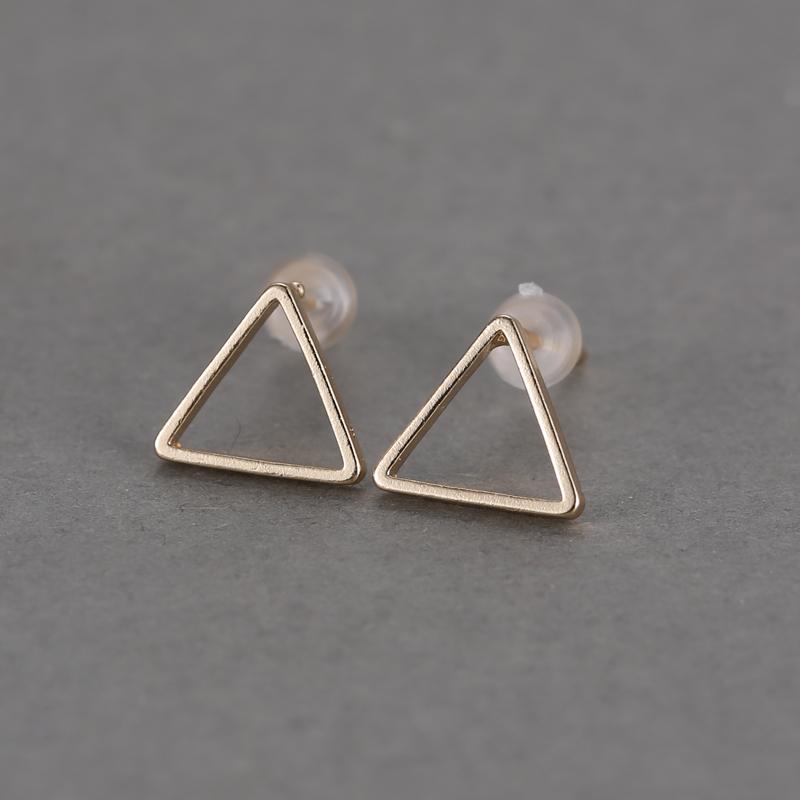 Distinctive Simple Geometric Gold & Black Fashion Ear Stud Earrings Ball Jewelry