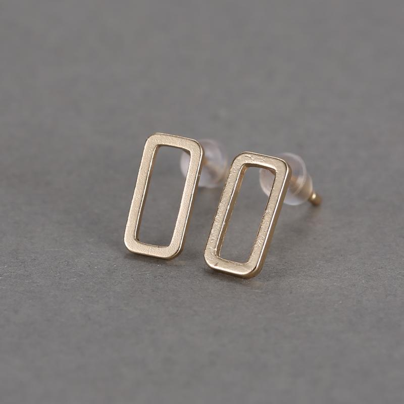 Hollow-out Simple Style Geometry Ear Stud Figure Ear Earring Simple Lady jewelry