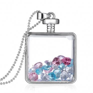 男女皆宜的时尚瓶子形状小球吊坠珠宝礼物