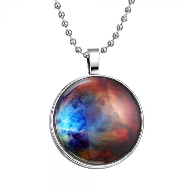 f3e015ebfe Fashion Unisex Jewelry Luminous Galaxy Round Chain Pendant Glow In The Dark  Alloy Necklace 5. Zoom. Galaxy10_; Galaxy5_; Galaxy6_; Galaxy10_