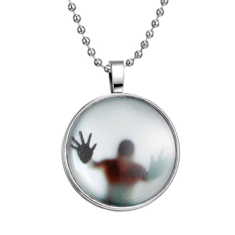 Men Women Glow in the Dark Steampunk Charm Tower/Smile/Clock Glow Necklace Vogue