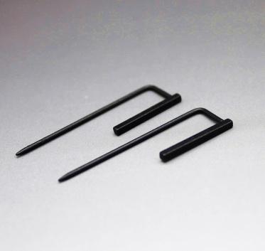 Fashion 1 Pair Geometric Figure Simple Square Ear Stud Black Alloy Earrings For Women