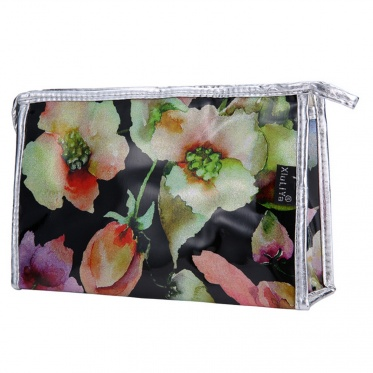 Leisure New Multi-Color Cosmetic Bag Makeup Flowers Pattern Pouch Travel Handbag