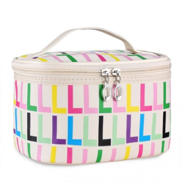 Korean Travel Large Capacity Cosmetic Storage Box Printed Letters Cosmetic Case Storage Box