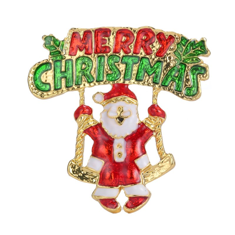Christmas crystal brooch bouquet wedding lady snowman