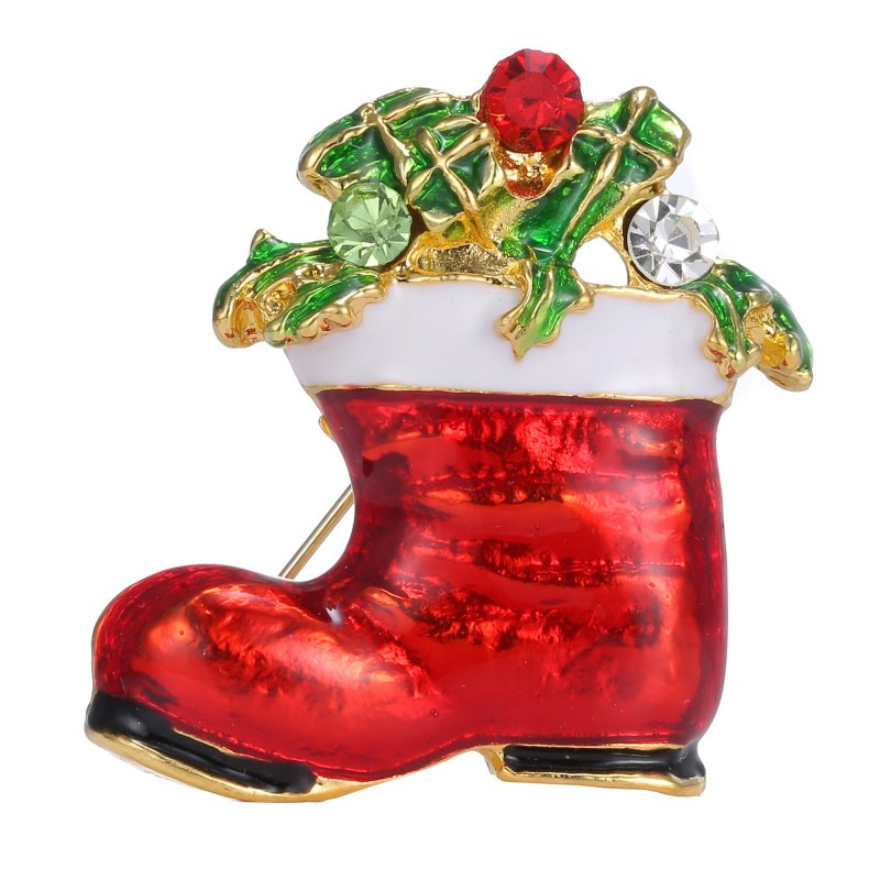 Crystal christmas rhinestone snowman bowknot stockings