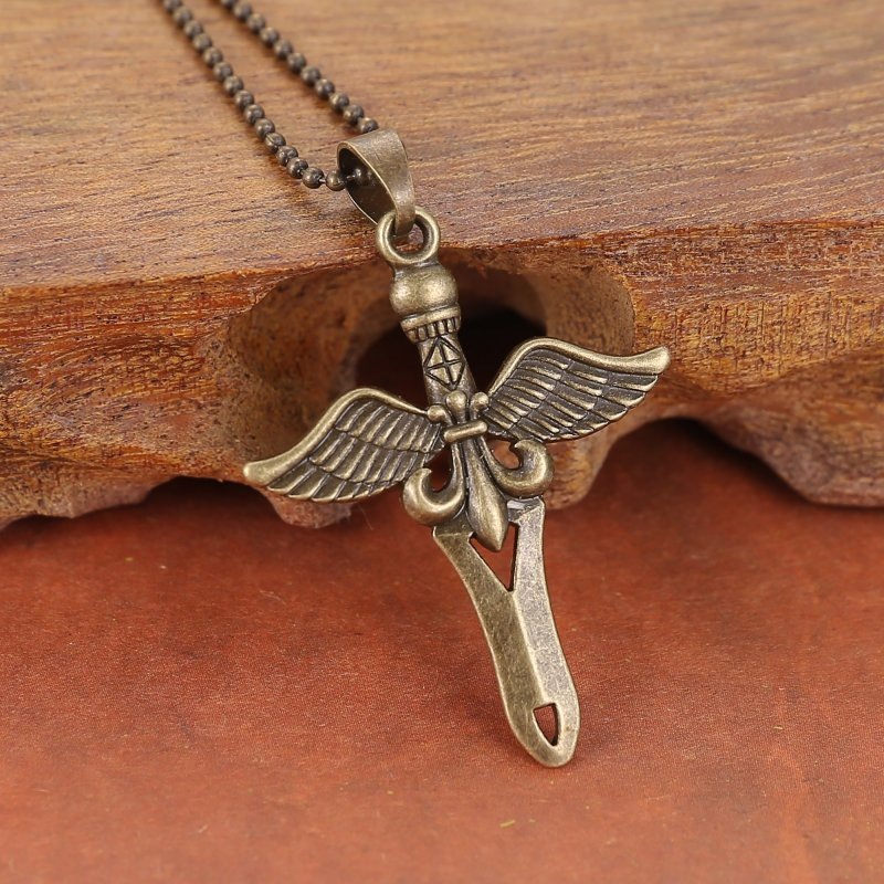 fashion jewelry cool bronze silver cross wing flower. Black Bedroom Furniture Sets. Home Design Ideas