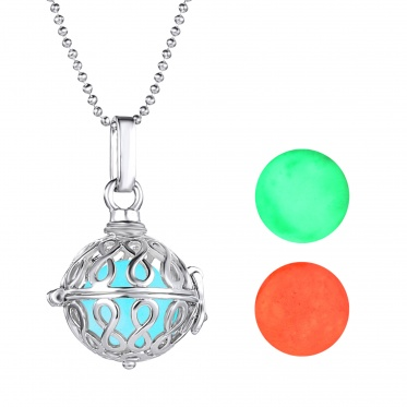 Korean chic luminous pendant alloy necklace