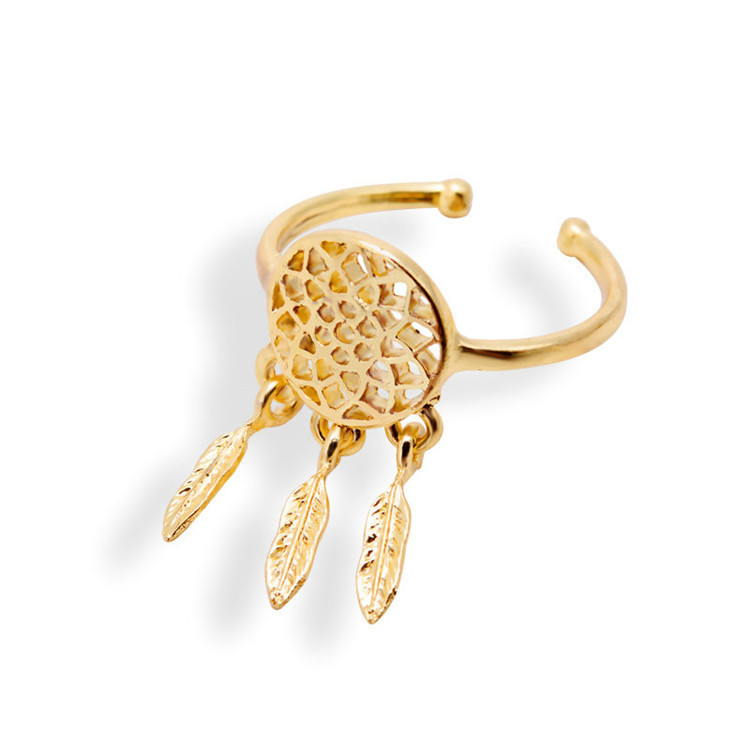 Dreamcatcher ring feather charm pendant dream catcher wish for How to make a double ring dreamcatcher
