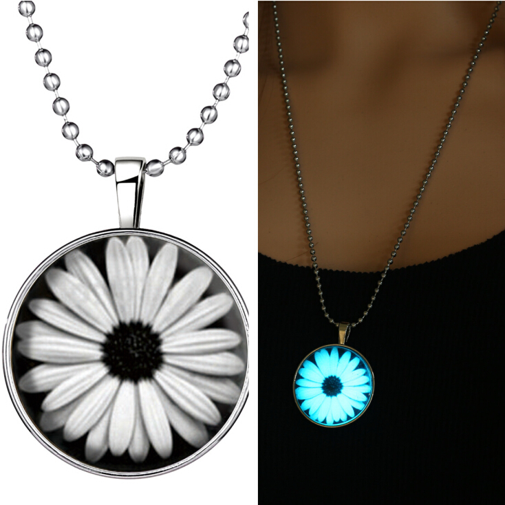 Halloween Steampunk Glow in the Dark Stainless Steel Pendant Necklace Chain new