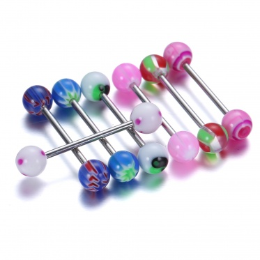 20pcs Surgical Steel Curved Barbell Ring Navel Tongue Nose Body Piercing Jewelry Hot
