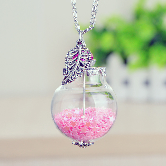 Handmade dandelion lavender dried flower glass pendant for Dandelion flowers and gifts