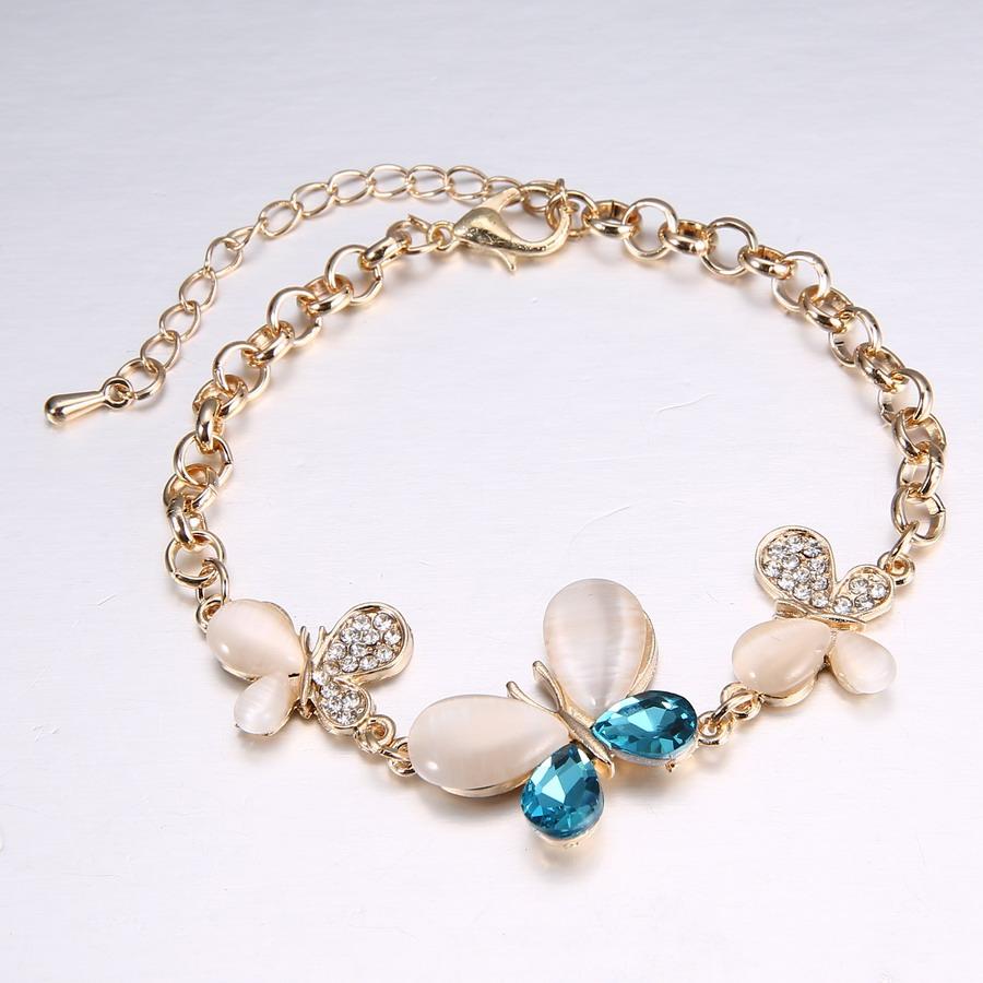 Fashion Crystal Gold Chain Bracelet Bangle Rhinestone ...