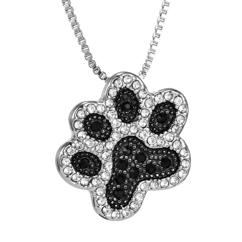1Pcs Chic Style Silver Dog Paw Chain Pendant Women Necklace Jewellery Charm Gift